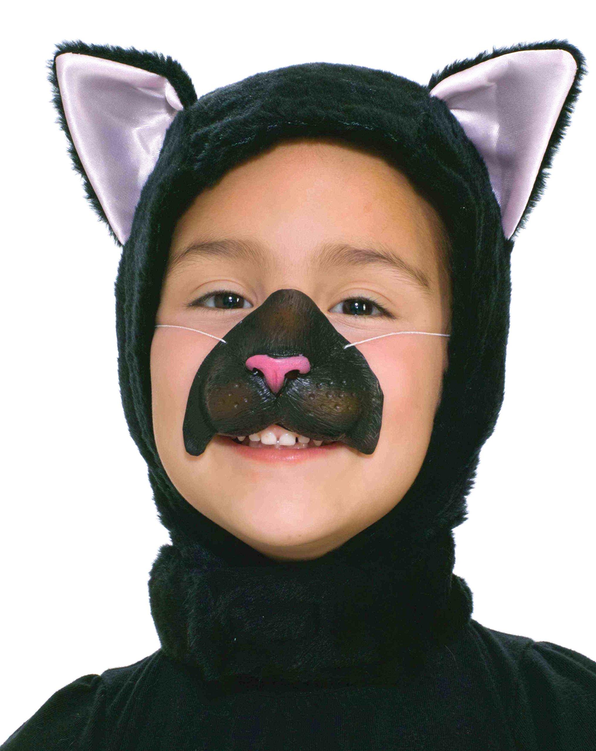 Forum Novelties Child Size Animal Costume  Black Cat Hood and Nose Mask