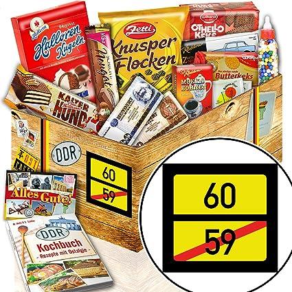 Ortsschild 60 Ostalgie Süßigkeiten Set Geschenke Zum 60