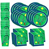 Tennis Birthday Party Supplies Set Plates Napkins Cups Tableware Kit for 16 by Birthday Galore