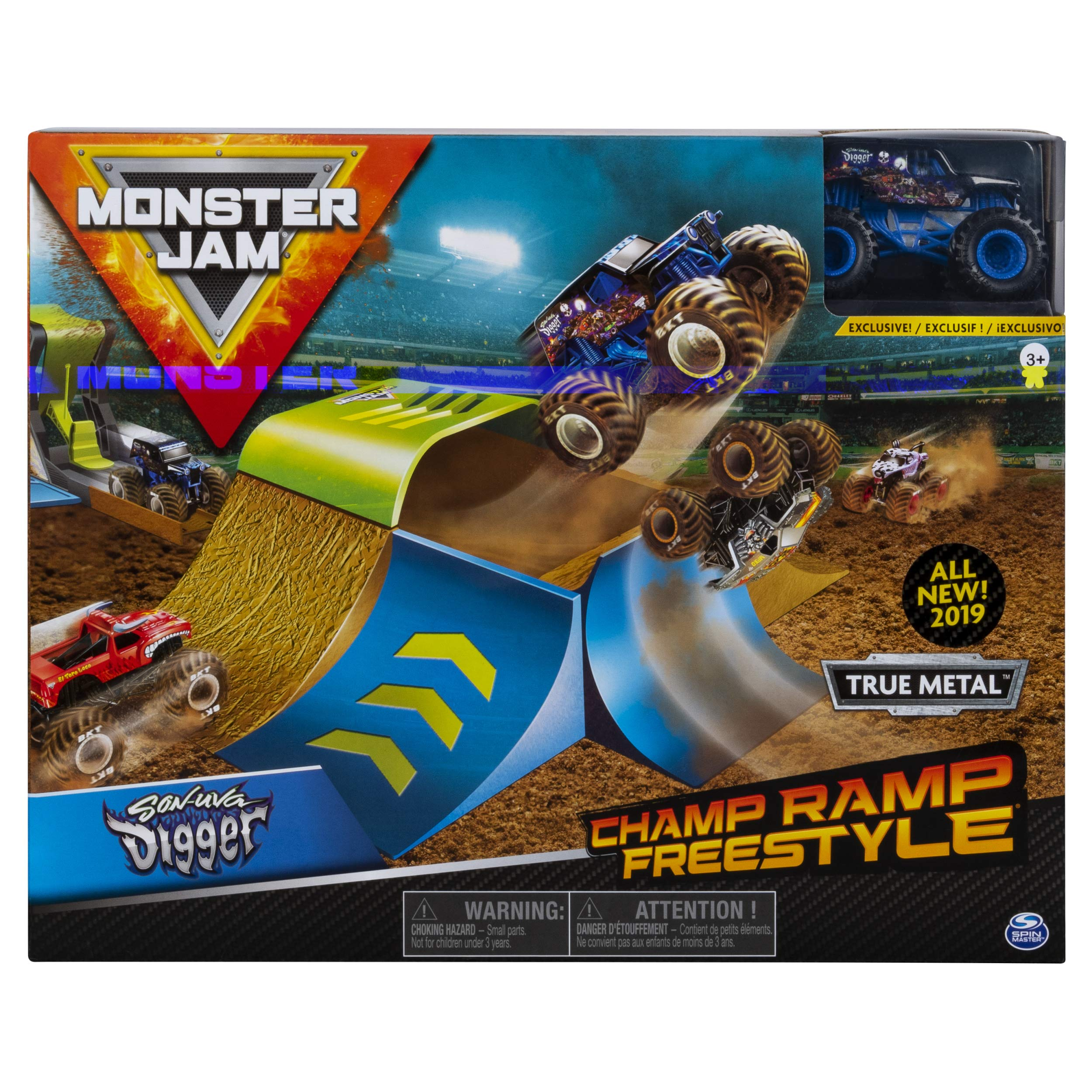Monster Jam Official Champ Ramp Freestyle Playset Featuring Exclusive Son-uva Digger Monster Truck by Monster Jam
