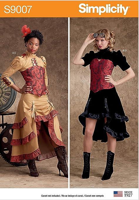 SIMPLICITY S9007 - Patrones de costura para disfraces de mujer ...