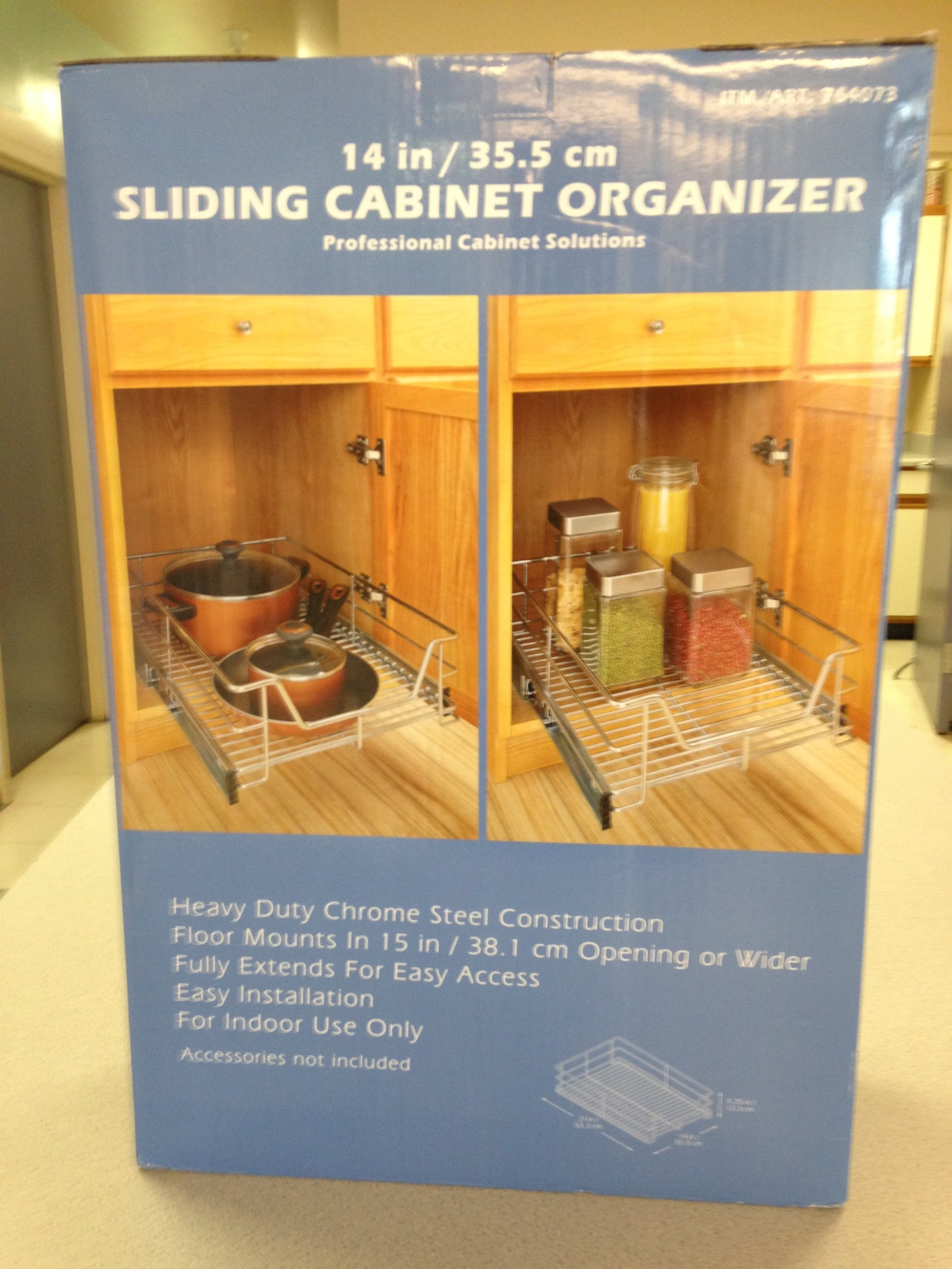 Professional Cabinet Solutions 14'' Chrome Sliding Kitchen Cabinet Organizer by SmileMore
