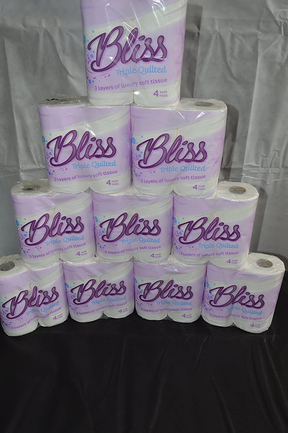 160 x Bliss Quilted Luxury 3ply toilet rolls paper tissue paper Star Tissue U.K.