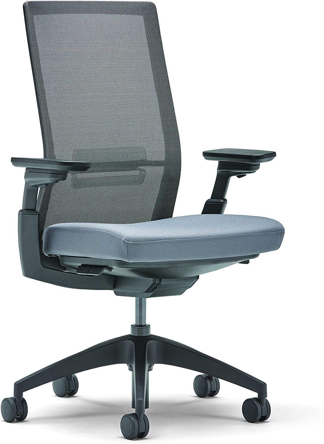 Allsteel Black Evo Task Chair With Lumbar Weight Activated Mesh High Back And 4 D Adjustable Arms Amazon Ca Home Kitchen