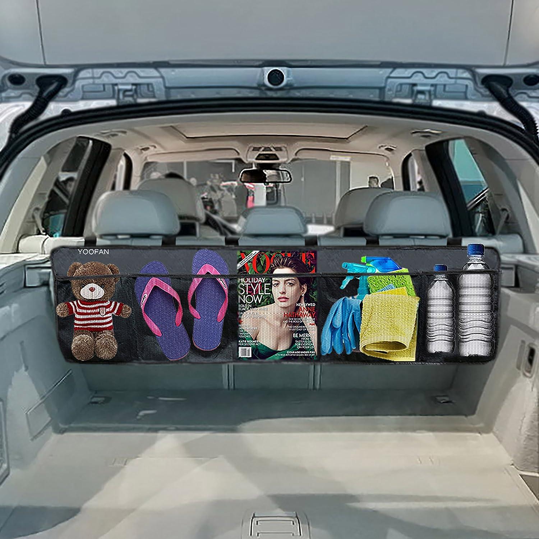 Zento Deals 4 Hook Universal Trunk Cargo Net Mesh Storage Organizer for SUV