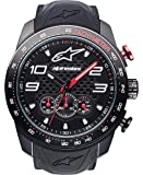 Alpinestars Tech Men's Chronograph Watch, Analog Chrono 45 MM Stainless Steel case, 100 Meters Water Resistant, Japanese Movement, Integrated Durable Silicone Wristband