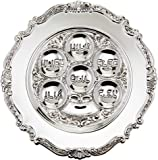 "Lowest priced Traditional Passover Seder Plate 12"" (Silver Plated)"