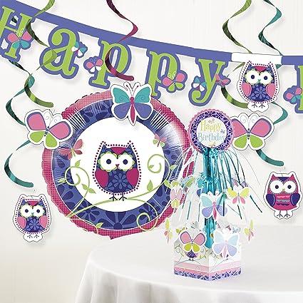 Amazon.com: Búho Pal Fiesta de cumpleaños decoraciones Kit ...