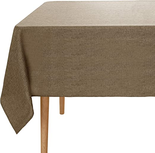 Umi. Essentials - Mantel Mesa Rectangular Efecto Lino 130 x 220 cm ...