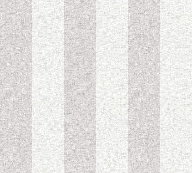 Cr/éation papel pintado Libert/é azul blanco 10,05 m x 0,53 m 314024 A.S