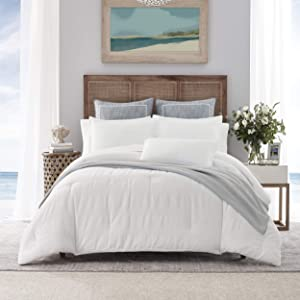 Nautica Home   Hampton Collection  Duvet Cover Set- 100% Cotton Ultra Soft, All Season Bedding, Pre-Washed for Added Softness, Twin, Ivory