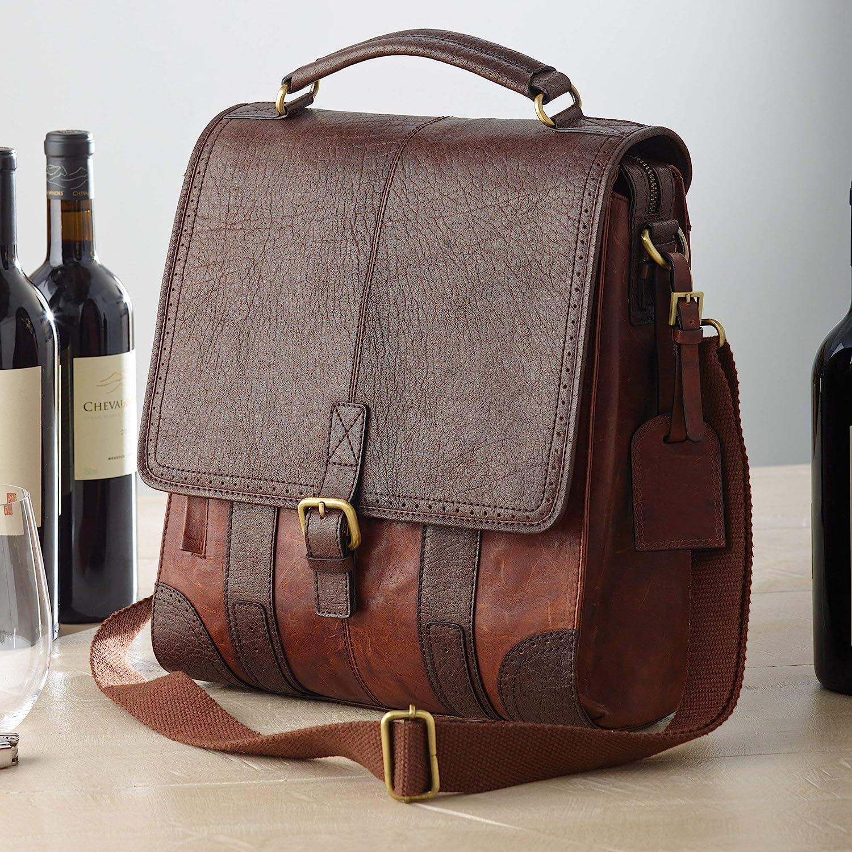 3-Bottle Leather BYO Wine Bag