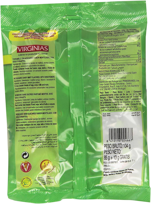 Virginias Glassmins Setvia Caramelos Sin Azúcares Sabor Mentolado - 100 g: Amazon.es: Amazon Pantry
