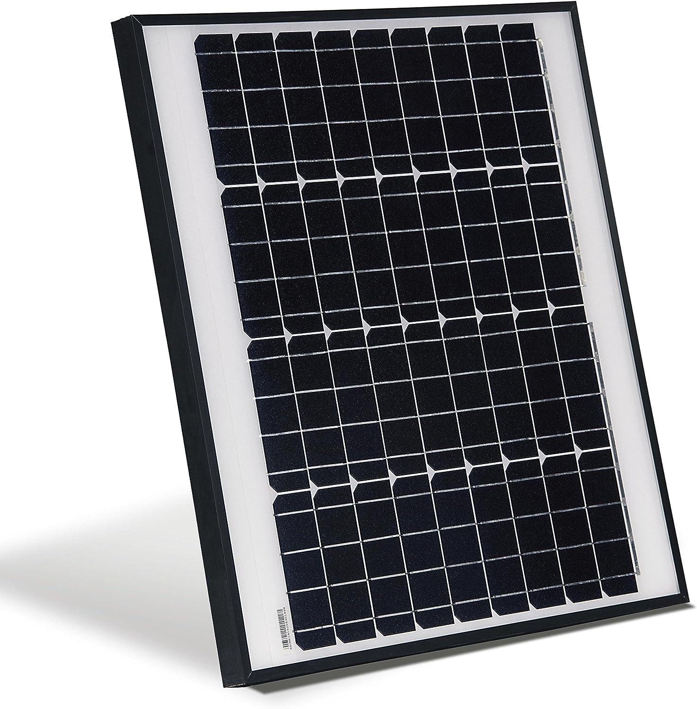 ALEKO SPU50W12V 50 Watt 12 Volt Monocrystalline Solar Panel for Gate Opener Pool Garden Driveway