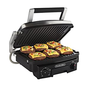 Proctor Silex 5-in-1 Indoor Countertop Grill, Griddle & Panini Press(25340)