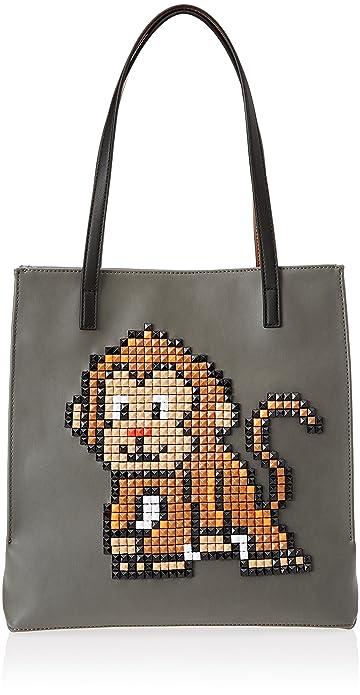 Braccialini Pixel, Sacs portés épaule femme, Nero, 13x32x30 cm (W x H L)