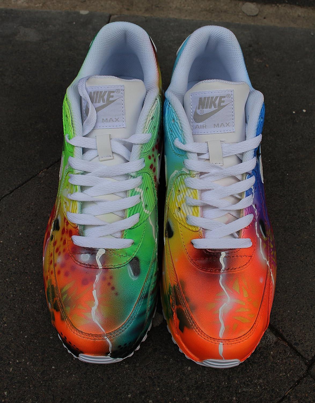 sale retailer fdf20 67fa4 nike air max 90 blue galaxy style painted custom shoes sneaker airbrush  kicks rare schuhe unikat