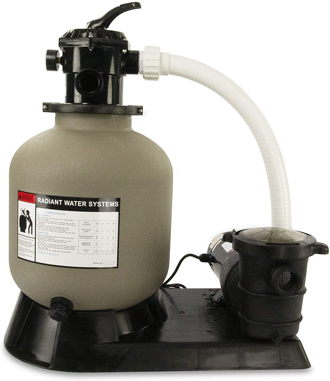 Rx Clear Radiant 16-Inch Sand Pool Filter