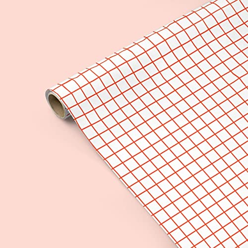 Amazon Minimalist Grid Gift Wrapping Paper