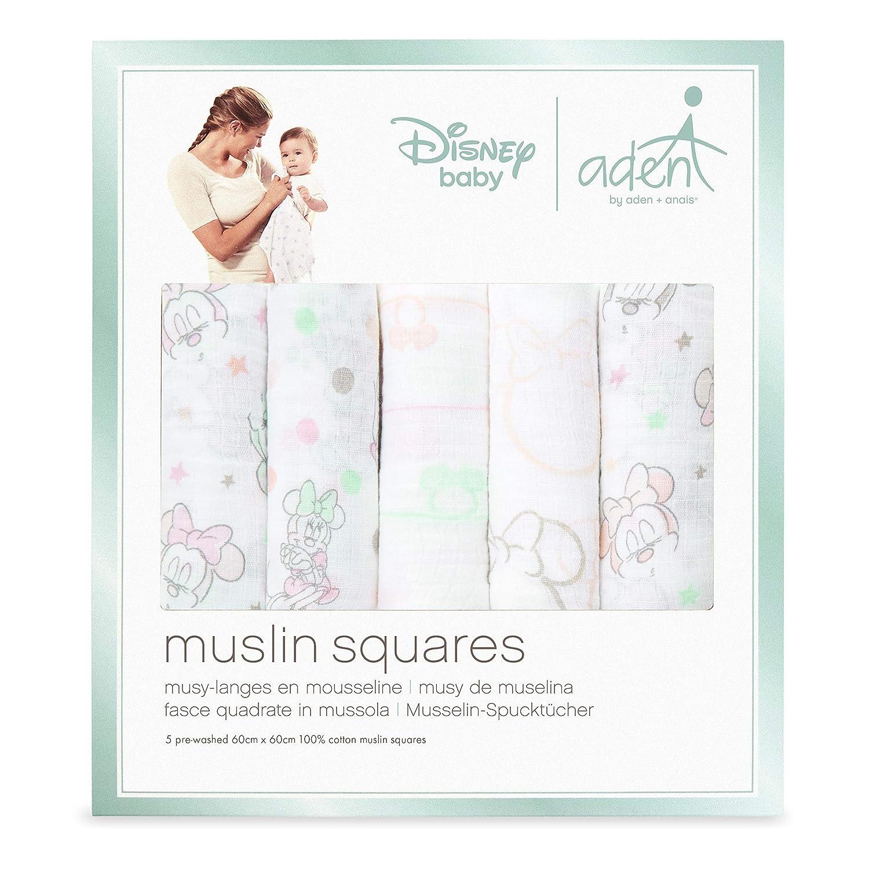 anais langes musy Minnie bubble aden by aden 60cm x 60cm pack de 5 100/% mousseline de coton