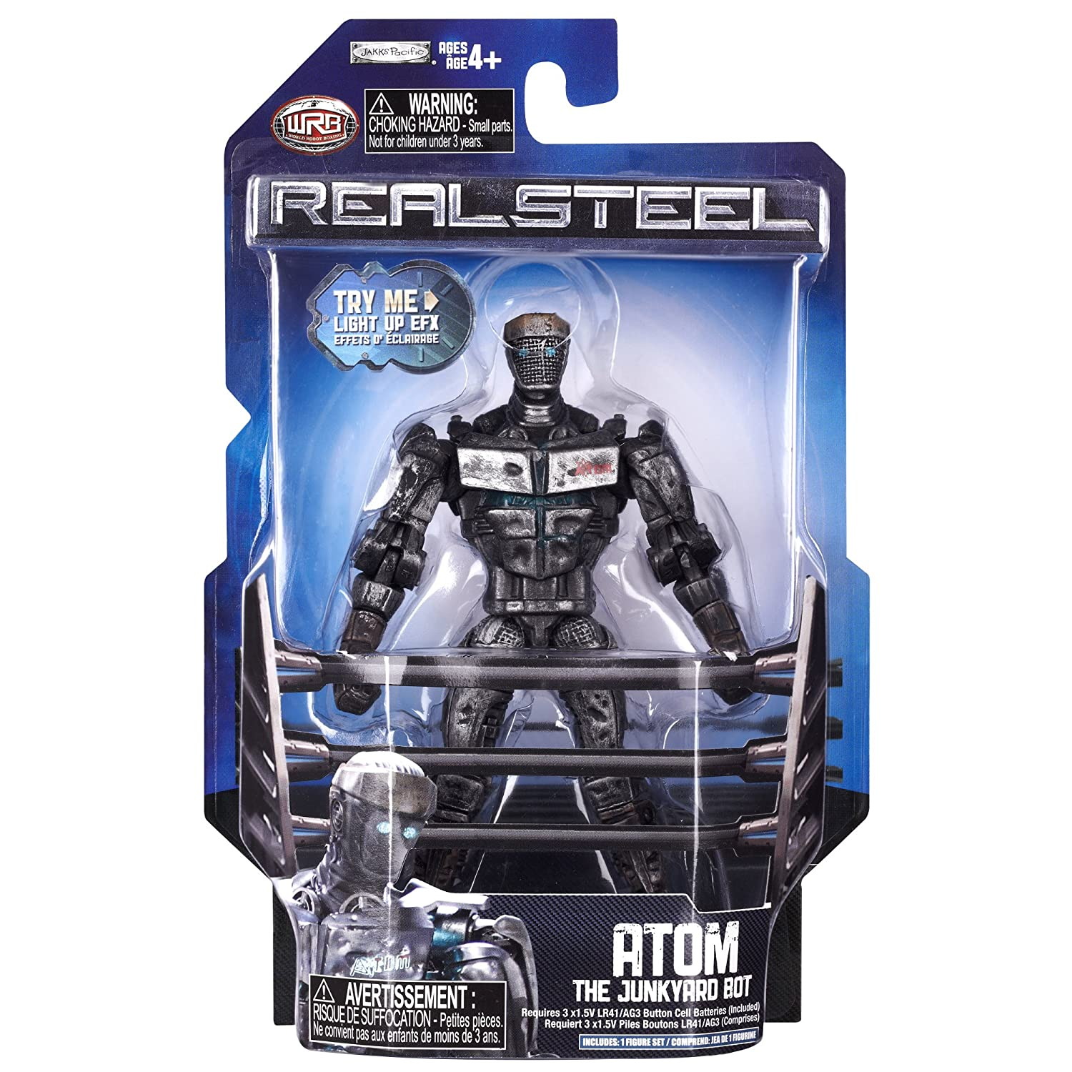 Amazon Real Steel Wave 1 Action Figure Atom The Junkyard Bot