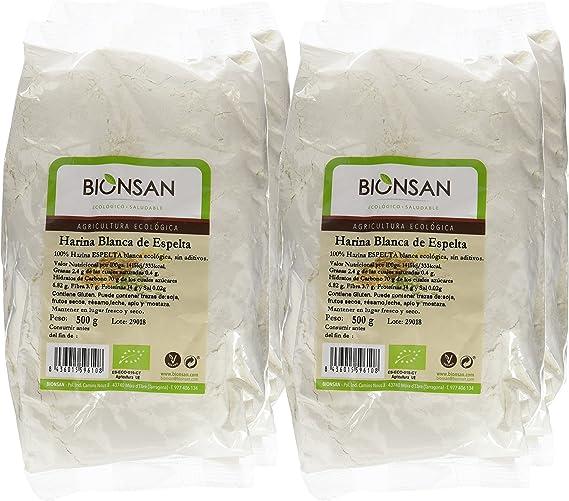 Bionsan Harina Blanca de Trigo Espelta Ecológica | 4 bolsas de 500 ...