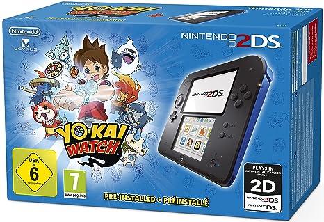 8eda2f8293b Console Nintendo 2DS - noir/bleu + Yo-Kai Watch Préinstallé: Amazon ...