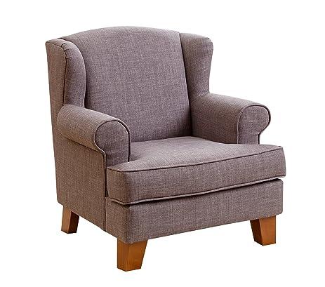 Abbyson Kids Fletcher Wingback Mini Chair, Gray