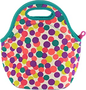 Built NY Gourmet Getaway Neoprene Lunch Tote, Medium, Dot Candy Fuschia