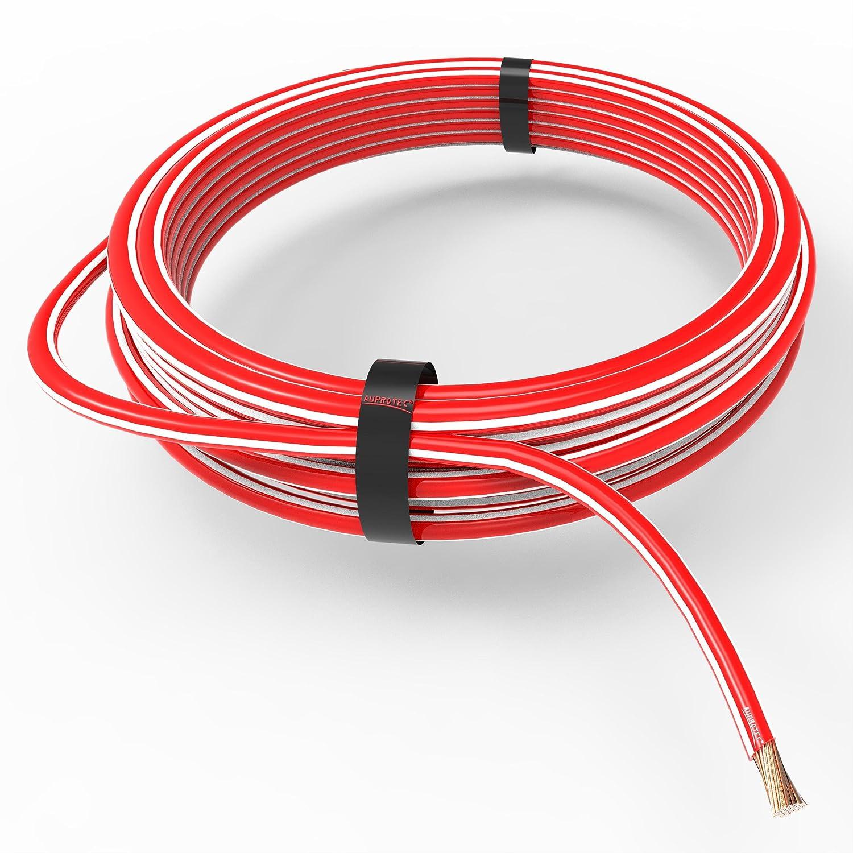 marr/ón 5m AUPROTEC Cable unipolar 6,0 mm/² Hilo el/éctrico en anillo
