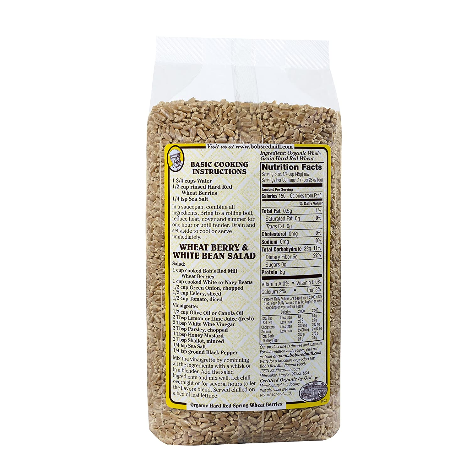 recipe: wheat berry nutritional information [29]