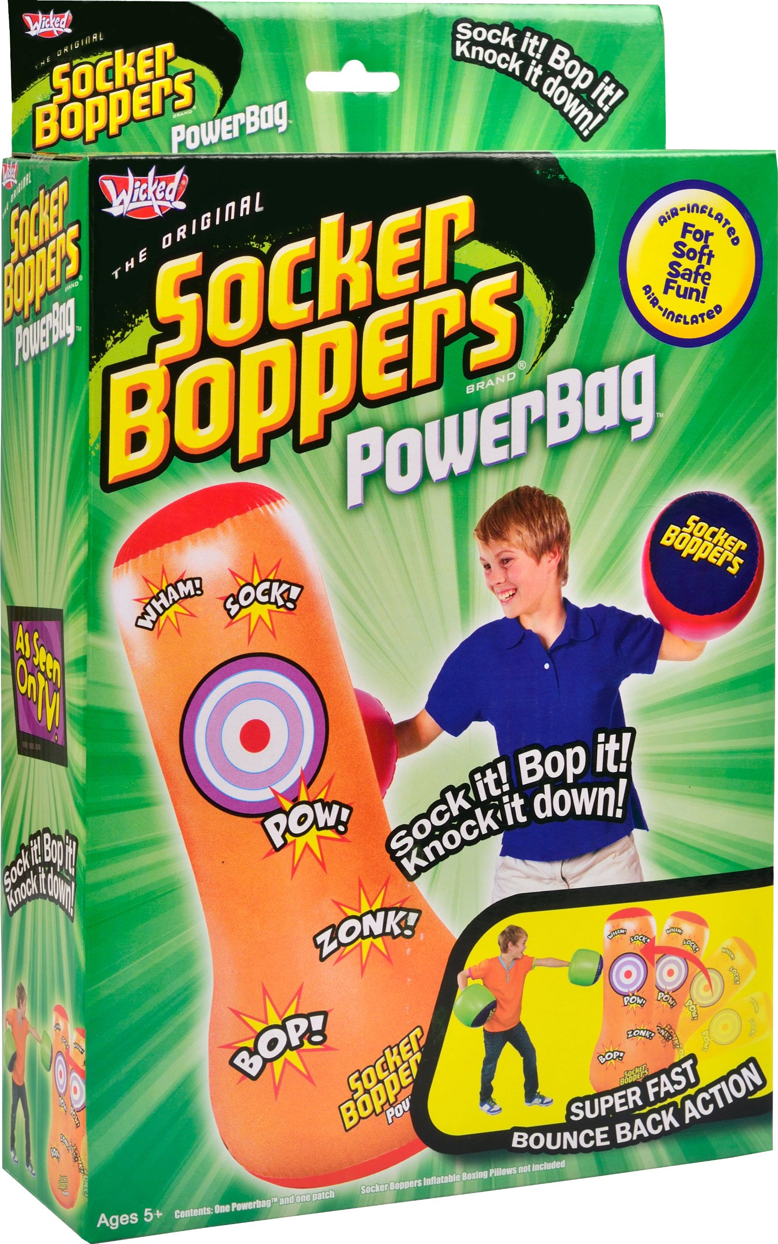 Wicked Socker Boppers Powerbag Inflatable Boxing Bag (Orange)