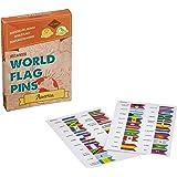 Miss Wood America Pack di bandiere del mondo, adesivo, Rosa, 15.6x 11x 2cm