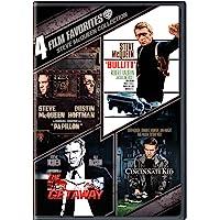 4 Film Favorites: Steve McQueen Collection (Papillon / Bullitt / The Getaway / The Cincinnati Kid)