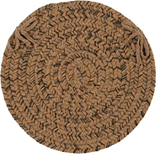 product image for Colonial Mills HY89 Hayward Chair Pad, 15 by 15-Inch, Mocha, 4-Pack