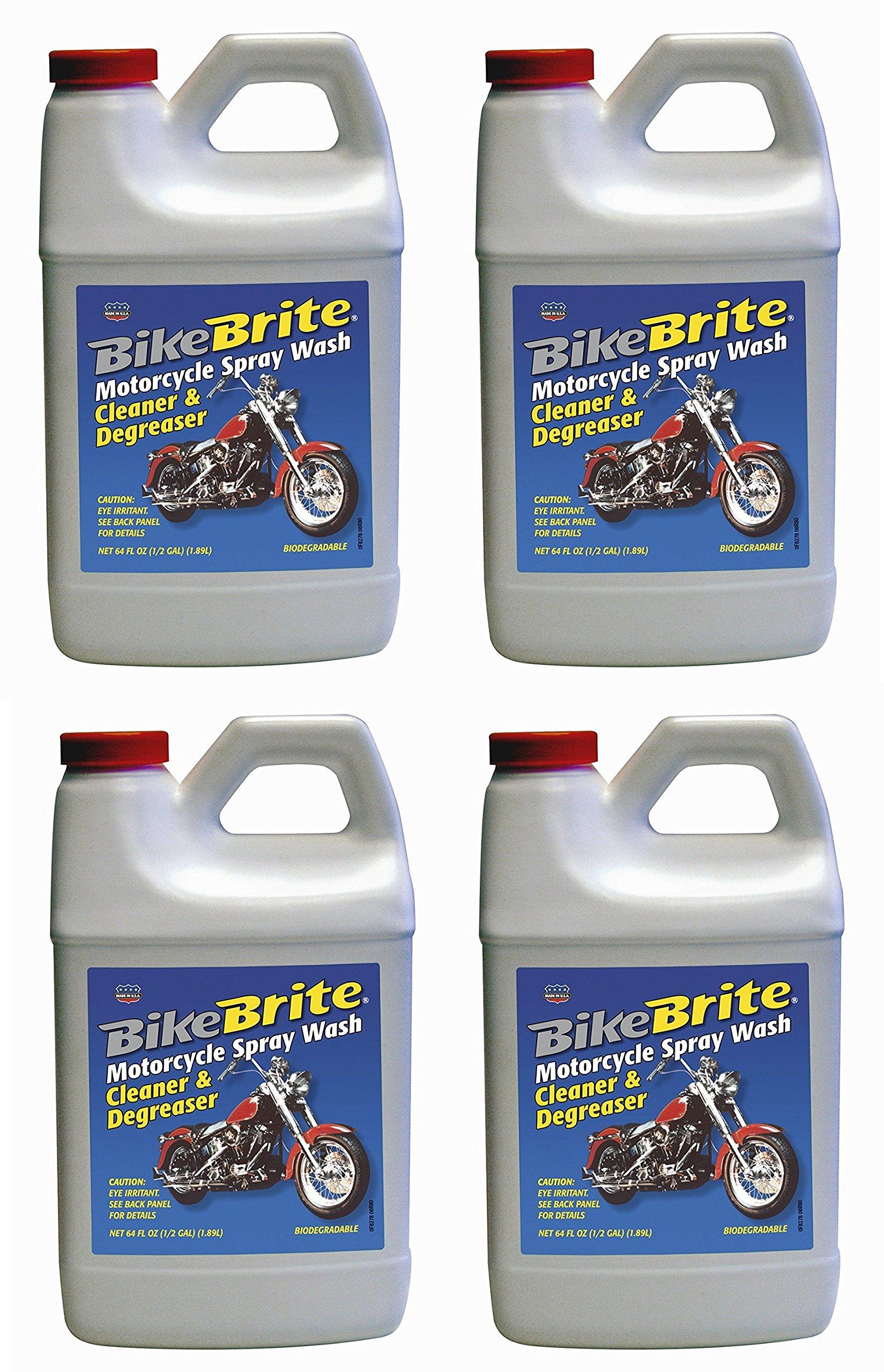 Bike Brite MC44R Motorcycle Spray Wash Cleaner and Degreaser - 64 fl. oz. (4)