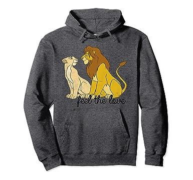 a0ed1453 Disney Lion King Simba Nala Feel The Love Graphic Hoodie