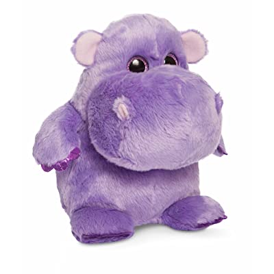Aurora World Hunk of Love Hippo Plush, Purple, Small: Toys & Games