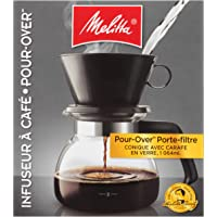 Melitta 6-Cup Pour Over Coffee Brewer with Glass Carafe