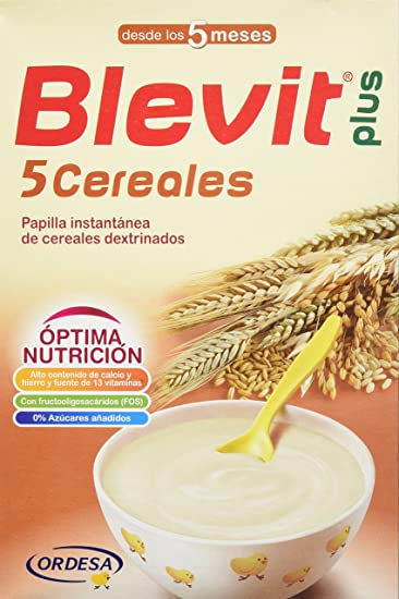 Blevit Plus 5 Cereales - 300 gr: Amazon.es: Alimentación y ...