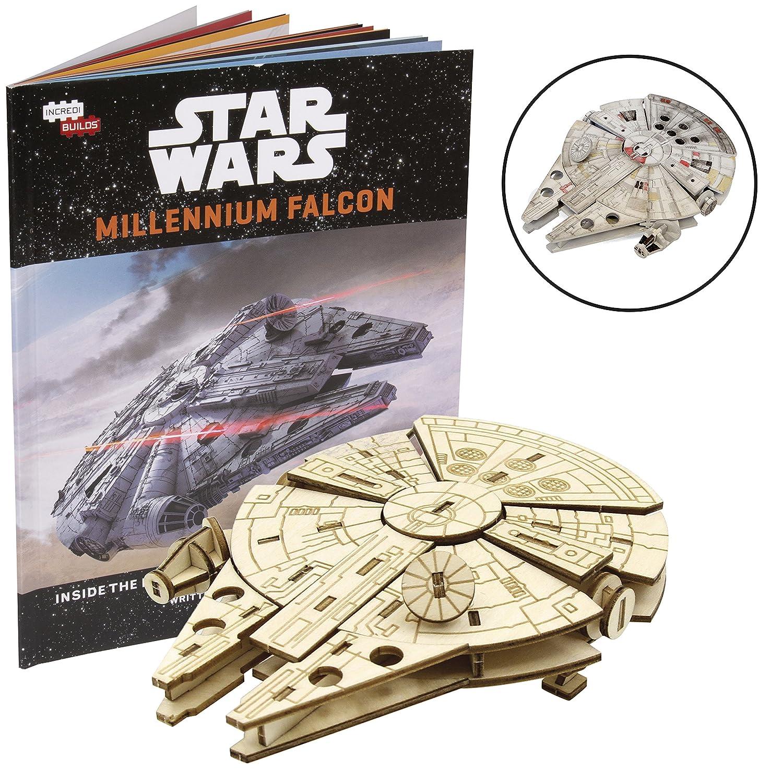 1006a2ad Amazon.com: Star Wars Millennium Falcon Book and 3D Wood Model Kit ...