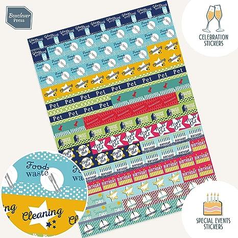 Paquete de Pegatinas de Recordatorio de Boxclever Press para Agenda y Calendario. 1152 Pegatinas para Organizar. Coloridos Stickers Autoadhesivos para ...