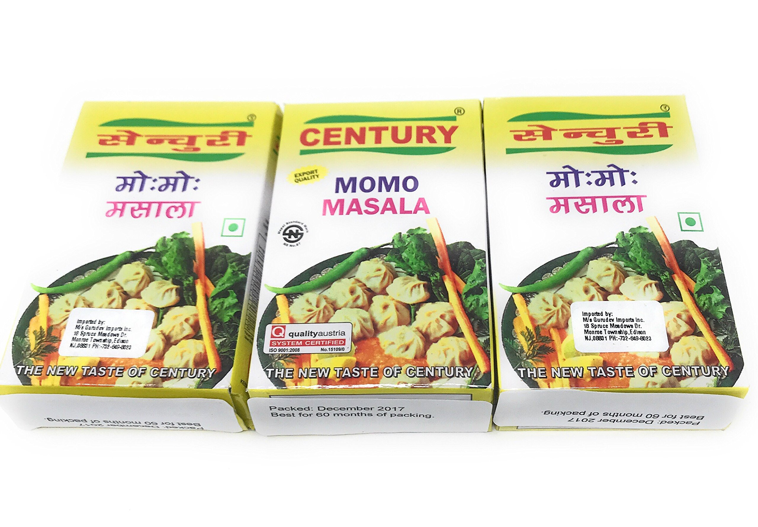 Century MOMO Masala Made in Nepal Pack of 3 Pcs Chinese Dumpling Spices