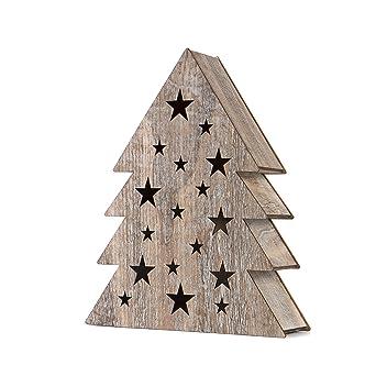 SnowEra - Décoration en bois / Décoration de Noël LED avec 10 LED + ...