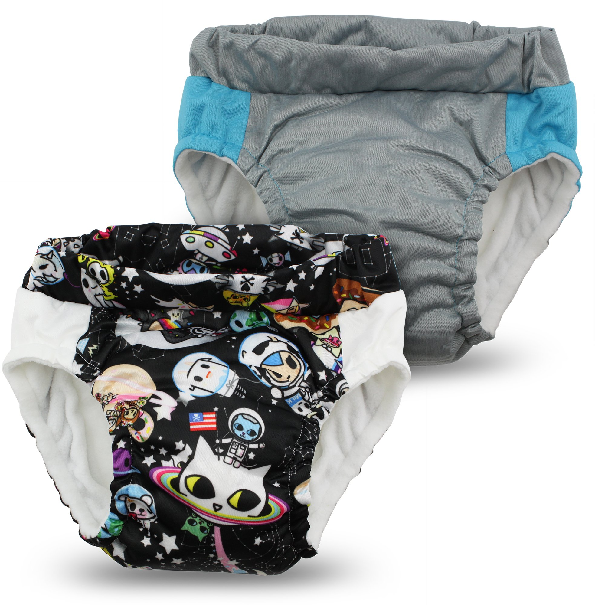 Kanga Care Lil Learnerz Toilet Training Pants, Tokispace & Platinum, Large