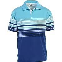 Gioberti Mens Modern Fit Striped Polo Shirt Pocket
