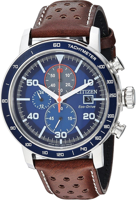 Citizen Men 's ' eco-drive ' QuartzステンレススチールandレザーCasual Watch, Colorブラウン(モデル: ca0648 – 09l) B07CGPZD27