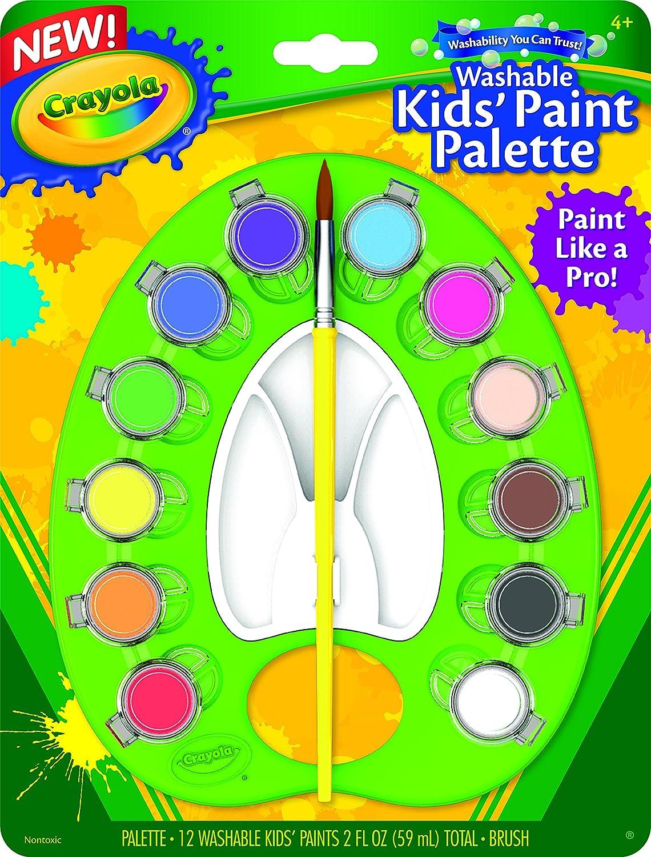 Amazon.com: Crayola Kids Washable Paint Pallet: Toys & Games