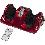 Best Choice Products Shiatsu Foot Massager Kneading and Rolling Leg Calf Ankle w/Remote (Red)