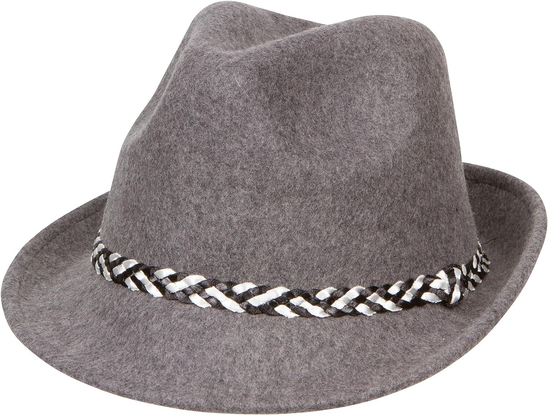 Sakkas Clint Braided Band Wool Trilby Fedora 5055460169083